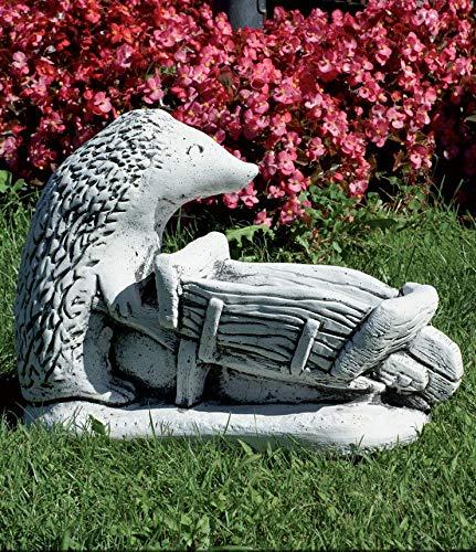 CATART Dekorative Steinfigur Igel groß 20 x 12 cm für den Garten | robuste Figur für den Außenbereich