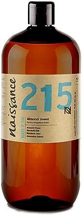 Naissance Aceite de Almendras Dulces n. º 215-1 Litro - 100% puro para humectar y equilibrar la piel, hidratar el cabello y todo el cuerpo.
