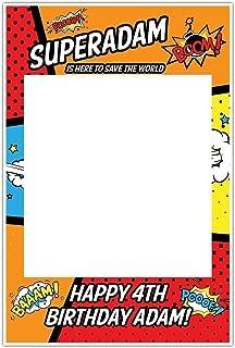 Superhero SuperKid Selfie Frame Photo Booth Prop Poster
