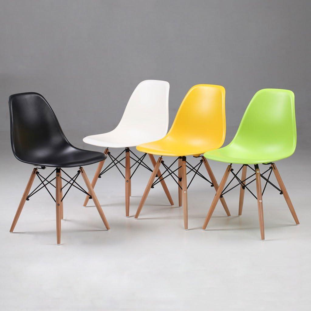 HLQW Table et chaises de négociation minimaliste moderne Chaise de salle à manger Chaise de maison Tabouret dossier nordique (couleur : vert) Vert