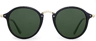 c6ee8ff7a9 Gafas de Sol Polarizadas Retro Redondas Lentes de Espejo Pequeño Circulo  Tintado Hombre Mujer