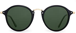 Retro Polarized Round Sunglasses Small Mirror Tinted Circle Lens Men Women