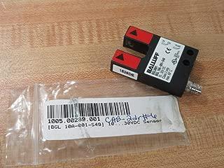 Balluff Bgl 10A-001-S49, Slot Sensor, 10-30Vdc, 200Ma, 10Mm Slot Bgl 10A-001-S49