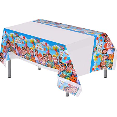 HUWU Robot Blocks Party Tablecloth Baby Shower Birthday Party Robot Blocks Tablecloth 70 x 42 Ro-blox Table Cover Party Supplies Decorations