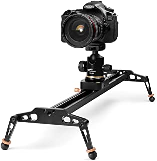 TNP 40 inches / 100cm Camera Slider for DSLR, Aluminum Alloy Dolly Track Video Stabilizer Rail System w/ 17.6lbs/8kg Loading for Cinematic Film Video Footage Studio Photography, Fits Sony Canon Nikon