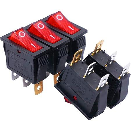 3Stk SPST Rocker Kippschalter 15A 250V 20A 125V 2P Ein//Aus Schalter T701AT