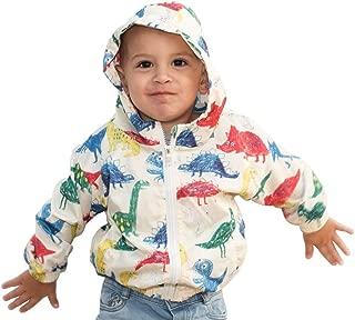 Aslan Original Hooded Jacket for Babies - Spring/Fall Dinosaur Water Proof Coat for Babies - Baby Zip Hooded Windbreaker