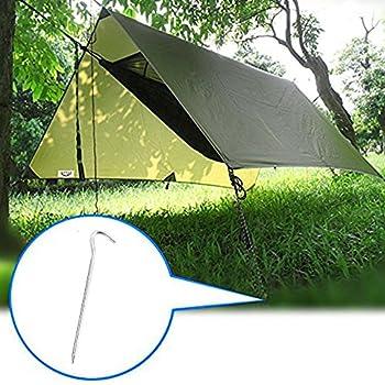 3 x 3M Bâche Anti-Pluie, Toile de Tente Camping Imperméable Portable, Abri de Survie Pliable Léger Anti-UV Anti- Pluie pour Camping, Activités en Plein Air (Armée Verte)