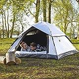 Lumaland Outdoor Pop Up Cool Reflective Kuppelzelt Wurfzelt 3 Personen Zelt - Sekundenzelt Camping Festival etc. 215 x 195 x 120 cm Tragetasche - 4