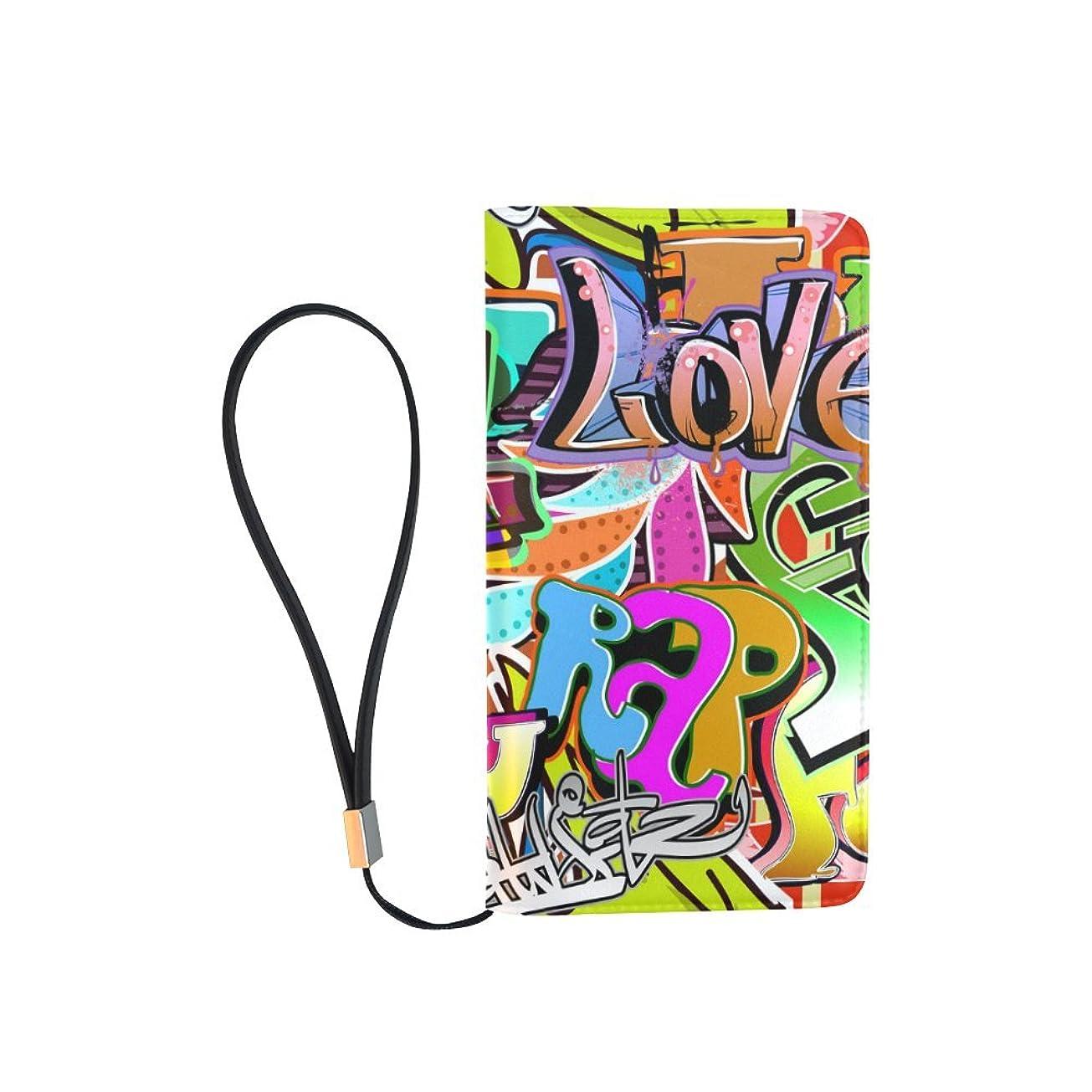 バケットキロメートルいつかメンズGraffiti Popアート財布クラッチバッグハンドバッグオーガナイザーZipper Purse With Wrist Strap