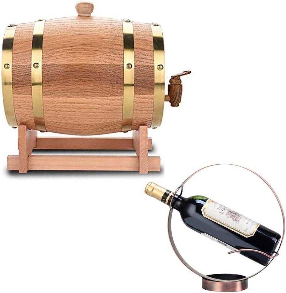 LPLND Barril de Vino Vintage de Madera de Roble del Barril de Vino, Vino Whisky Barril de Almacenamiento for la Cerveza Whisky Ron Puerto, de Whisky, Cerveza, Vino, Bourbon, Tequila, Ron