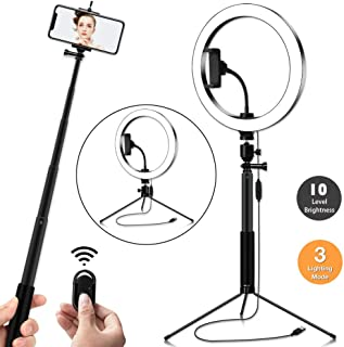 Ring Light,10-Inch LED Ring Light Mirror for YouTube Video Shooting, Selfie, Makeup, Photography, Live Streaming