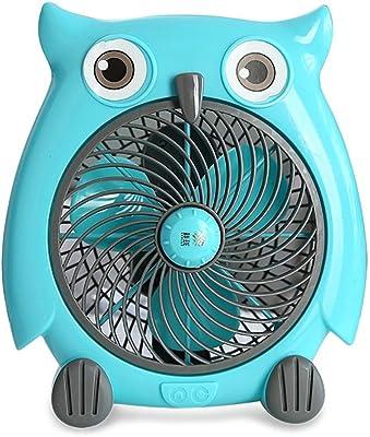 Must be Oasis Cartoon Owl Electric Fan Home Student Dormitory Bedside Small Fan Desktop Turning Fan Mini Silent Desktop Fan