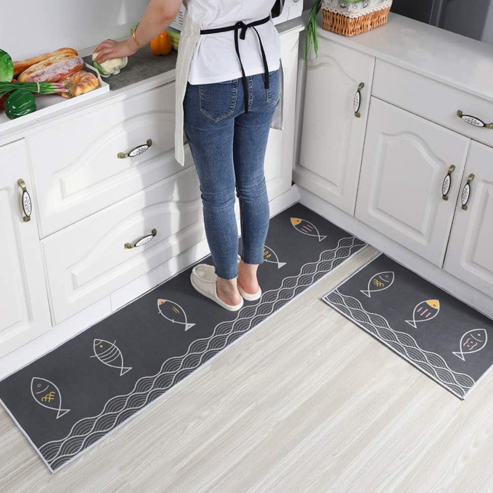 Kitchen mats 2 Piece Machine 格安 価格でご提供いたします Washable Non-Slip 毎日がバーゲンセール and Soft Ru Thick