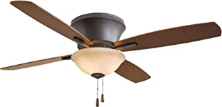 Minka Lavery F533-ORB Protruding Mount, 4 Reversible Medium Maple/Dark Walnut Blades Ceiling fan with 63 watts light, Oil-rubbed Bronze