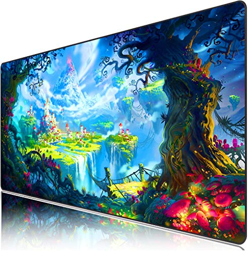 Professional Gaming Anime Cute Large XL Psychedelic Mouse Pad,Large Computer Laptop Keyboard Desk Mat Waterproof Mousepad with Mouse Mat 15.7x31.5x0.08inches / 400x800x2mm