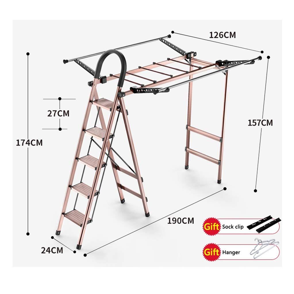 GSS-chair Escalera Plegable Ligero, Los Pasos 4/5 Escalera Etapa De Secado Plegable, Escalera De Extensión Móvil Multifuncional Cubierta, Diseño Plegable De Almacenamiento Conveniente: Amazon.es: Hogar
