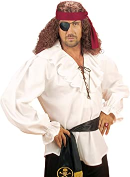 NET TOYS Autentica Camisa de Pirata para Hombre - Blanco XL ...