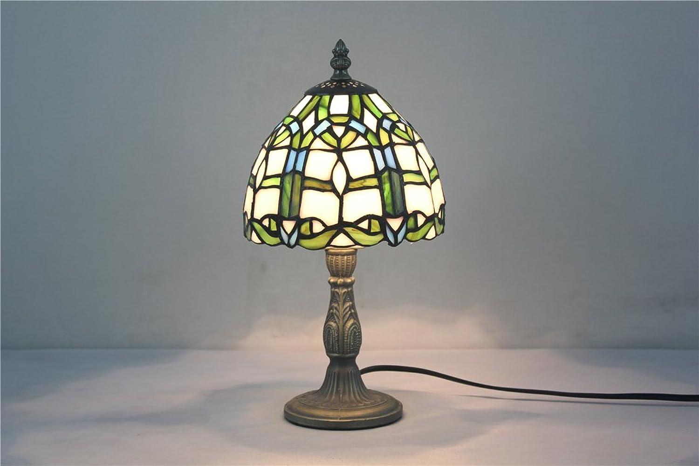 7-Zoll-Kinderschlafzimmer Bett Nachtlicht Glasmalerei Lampe handgemachte Kunst Tischlampe