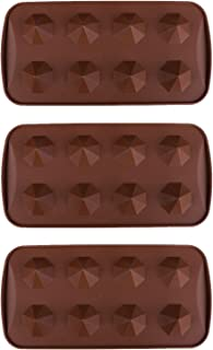 3 Pack X Gem Diamond 3D Cool Ice Cube Chocolate Soap Tray Mold Silicone Party Maker (SHIPS FROM USA)