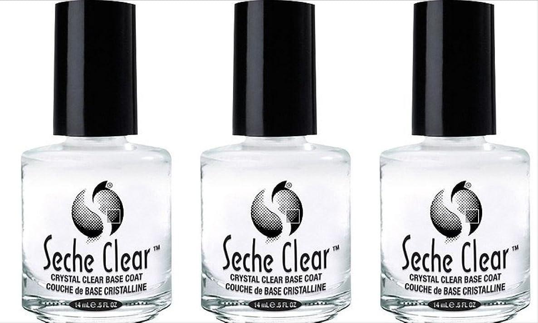 道路を作るプロセス困惑する外向き(3 Pack) SECHE Crystal Clear Base Coat (並行輸入品)