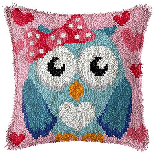 QAZWSX Crochet Kit DIY-Tools-Handwerksarbeit unfertige Häkeln, DIY-Latch-Haken-Kits for Erwachsene, unfertige Häkeln-Sofa-Kissenbezug, kreatives Geschenk for Kinder/Erwachsene Anfänger. handgefertigt