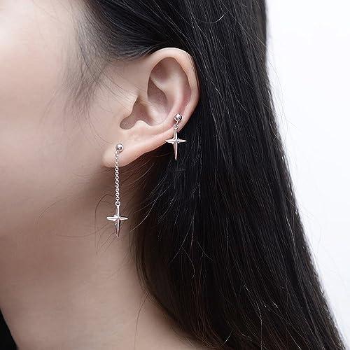 990b4509f A&C Fashion Korean Version Alloy Geometric Shapes Earrings for Women.  Unique Handmade Earrings Jewelry for