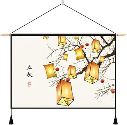 JTWJ 中国のタペストリー背景布insぶら下げ布北欧リビングルームぶら下げ画像布メーターボックスカバー背景壁diy壁布25.5×16.9インチ (Color : E)