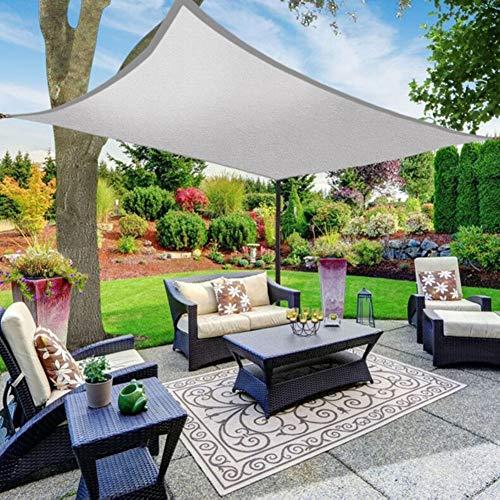 KKJKK Sonne Sonnensegel Rechteck Wasserdicht Markise 95% UV-Block Sonnenschutz Vordach zum Draussen Terrasse Garten Party Schwimmbad,Grau,3X4M