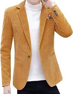Howme-Men Winter Thickened Gentleman One Button Fleece Suit Jacket Blazer