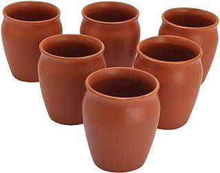 Odishabazaar Terracotta(Real Mitti) Unglazed Clay Mud Tea Kullad Cup Set Of 6 For Good Health(160ml)
