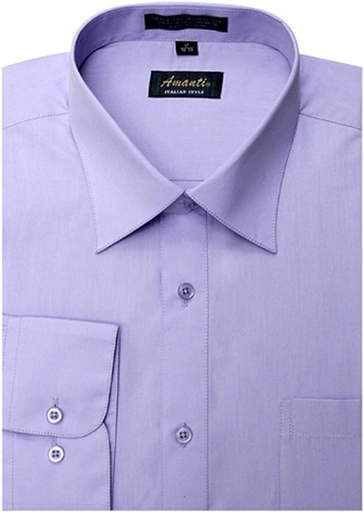 Amanti Men's Cotton Dress Shirt Super sale Long 25% OFF Button Sleeve Colla Classic