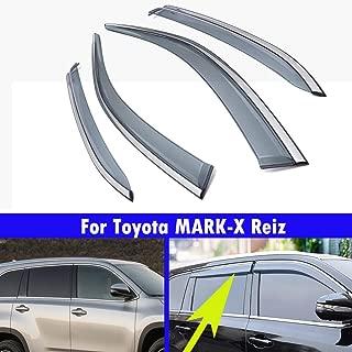 4Pcs Automobile Window Decoration Strip Automobile Window Eyebrow To Block Rain And Sun For Toyota MARK-X Reiz 2010 2011 2012 2013 2014 2015 2016 2017 2018 2019