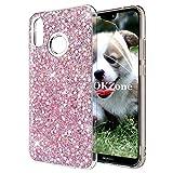 OKZone Funda Huawei P20 Lite Carcasa Purpurina, Cárcasa Brilla Glitter Brillante TPU Silicona Teléfono Smartphone Funda Móvil Case [Protección a Pantalla y Cámara] para Huawei P20 Lite (Rosado)