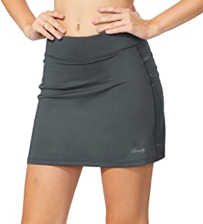 Beaully Women's Athletic Skorts Elastic Active Skirts with Shorts Pockets Tennis Golf Running Workout Sports