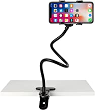 Slopehill Gooseneck Phone Holder for iPhone X XR XS 8 7 Plus Samsung Galaxy S10, Cell Phone Clip Holder for Bedroom Deskto...