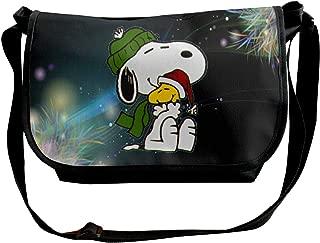 Fashion Space Snoopy Mens Womens Wide Diagonal Shoulder Bag Casual Messenger School Adjustable Shoulder Tote Bag