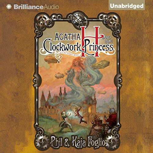 Agatha H. and the Clockwork Princess audiobook cover art
