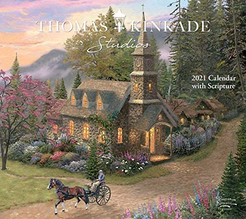 Thomas Kinkade Studios 2021 Deluxe Wall Calendar with Scripture product image
