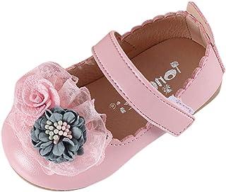 0179ffbf7f2c Efaster Baby Girl Sequin Elegant Flower Princess Dance Shoes Sandals for  0-6Years