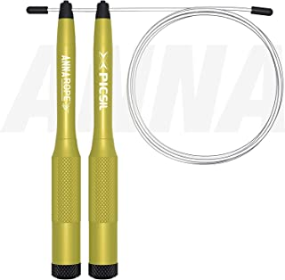 PICSIL Comba Anna Rope Cuerda de Saltar Cross training Ligera Resistente de Aluminio con Cable Ajustable con Lastres