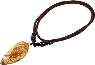 قلادة قلادة شفاء حجر للجنسين 25 بوصة ، قلادة الأحجار الكريمة مع سلسلة