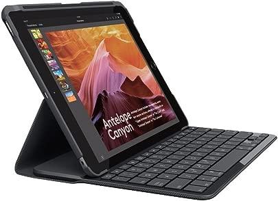 Logitech iPad Slim Folio Tasche  mit drahtloser Tastatur und Bluetooth  kompatibel mit iPad Generation  Qwertz deutsches Tastaturlayout  schwarz