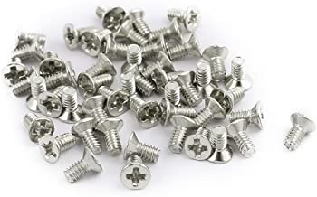 uxcell 50pcs M2x3mm Stainless Steel Countersunk Flat Head Phillips Machine Screws Bolts