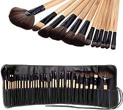Sampri Makeup Brushes 24Pcs Set With Black Leather Case