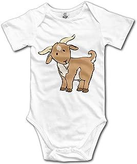 LopenD Goat Cartoon Geek Short Sleeves Variety Baby Onesies Bodysuit for Babies