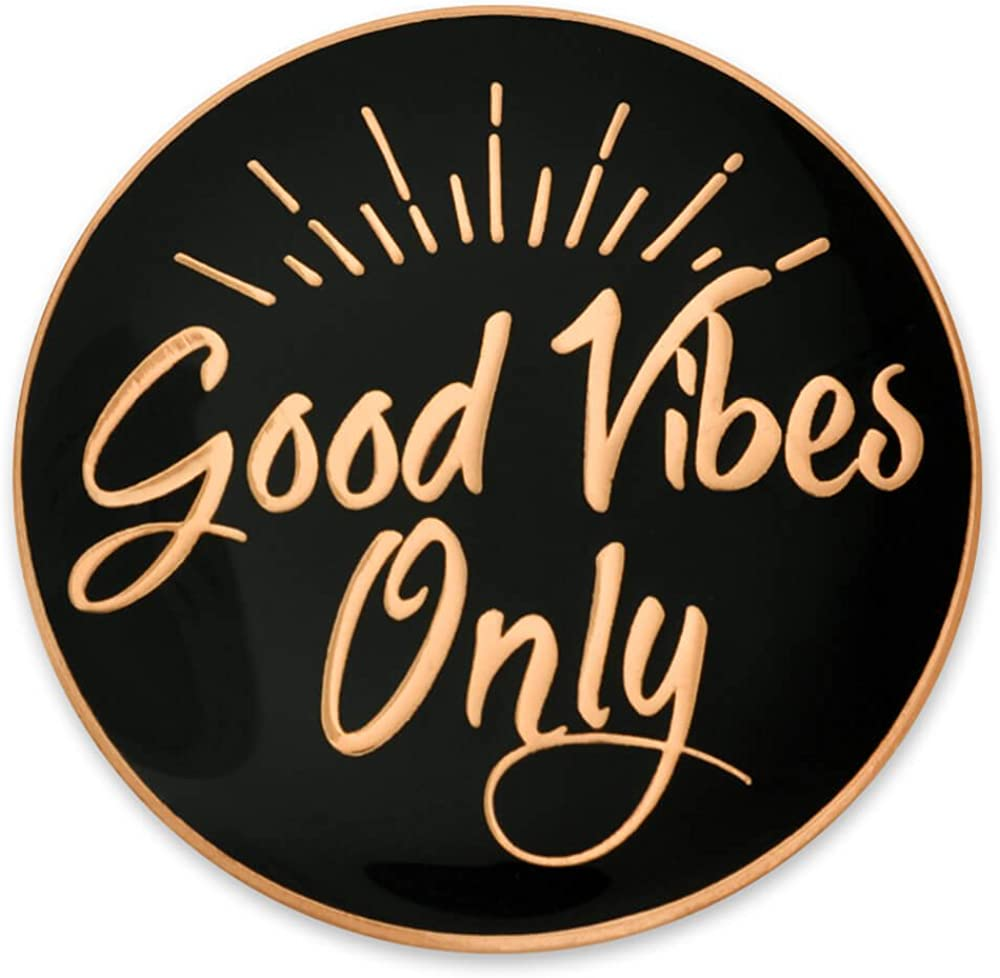 PinMart Max 67% Max 76% OFF OFF Good Vibes Only Motivational Cute Enamel Pin Lapel