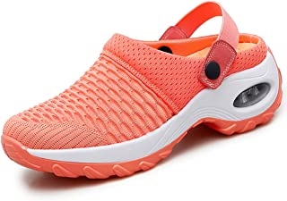 Mules Clogs for Women Summer Air Cushion Platform Mesh Mules Sneaker Sandals for Female Lightweight Beach Shoes Outdoor Slippers Walking Shoes