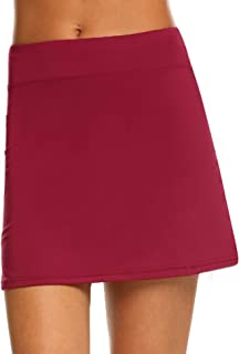 IN'VOLAND Women's Tennis Skorts Running Skirt with Shorts Inner for Golf Workout Casual Gym