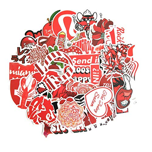 Tings 50 STKS Cartoon PinkStyle Stickers Voor Laptop Moto Skateboard Bagage Koelkast Notebook Laptop Speelgoed Sticker, xiaoqingxinhongse50